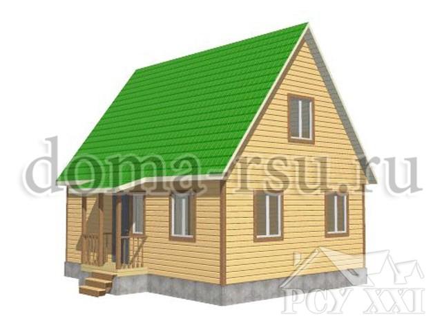 Проект каркасного дома КД051