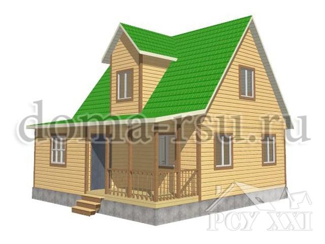 Проект каркасного дома КД053