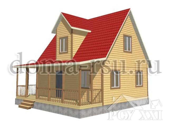 Проект дома из бруса БД055