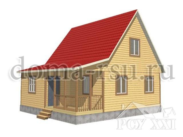 Проект дома из бруса БД056
