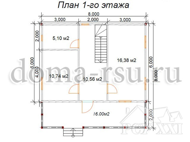 Проект каркасного дома КД057