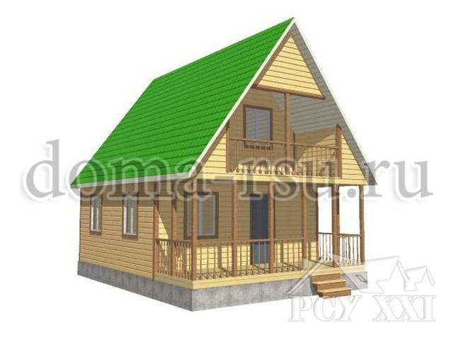 Проект дома из бруса БД058