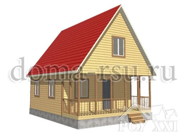 Проект дома из бруса БД059