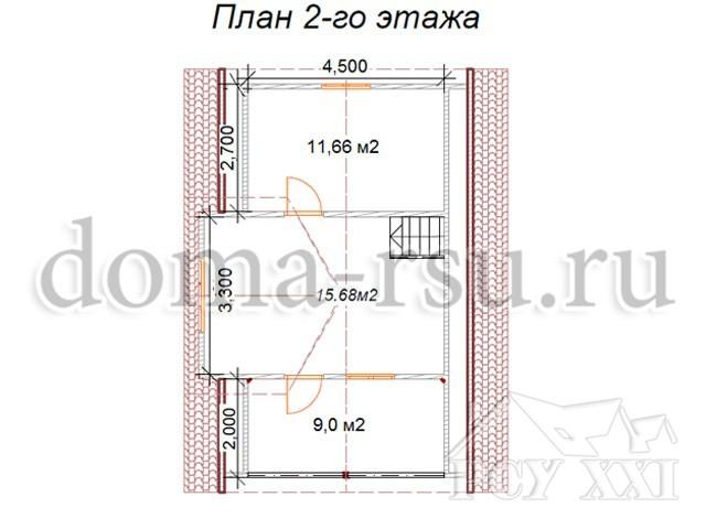 Проект каркасного дома КД060