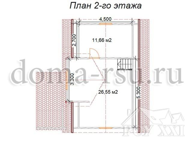 Проект каркасного дома КД062