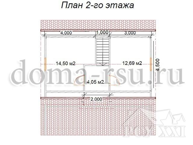 Проект каркасного дома КД064