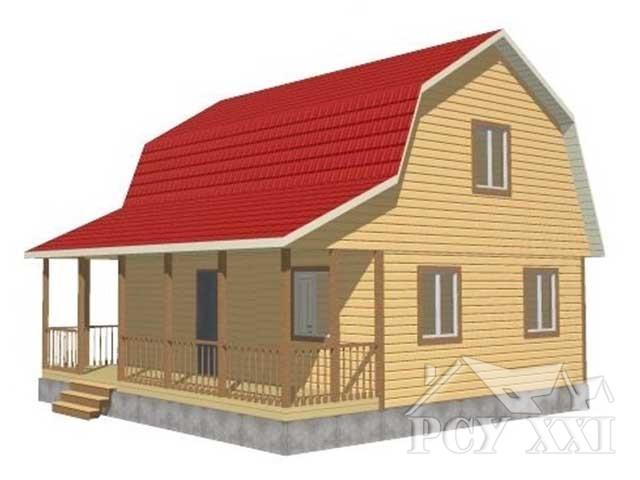 Проект каркасного дома КД067