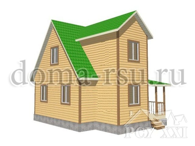 Проект дома из бруса БД043