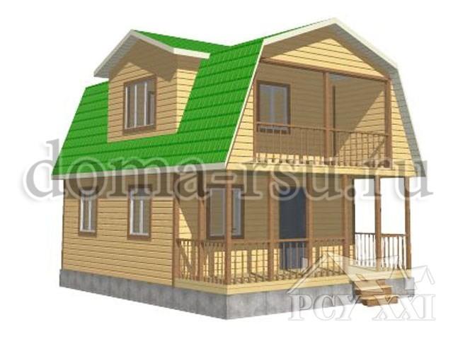 Проект дома из бруса БД070