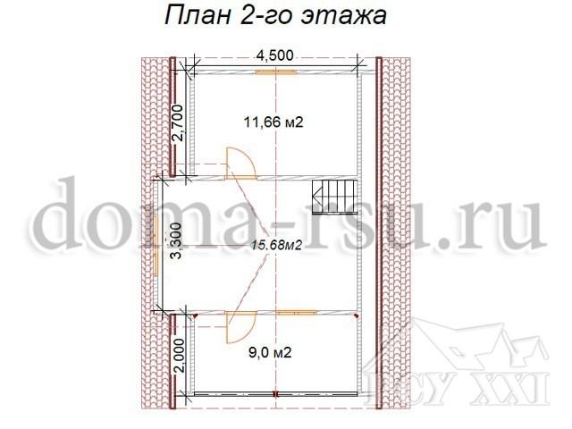 Проект каркасного дома КД070