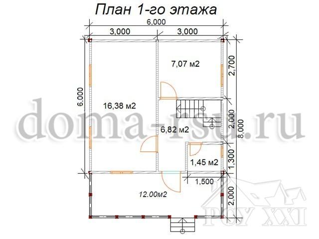 Проект каркасного дома КД071
