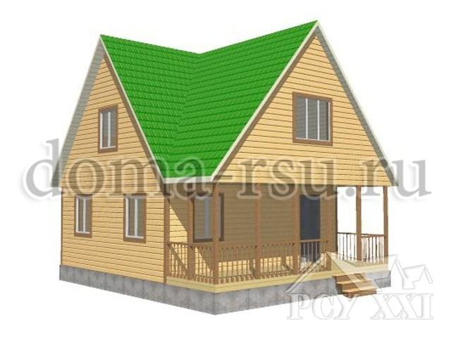 Проект каркасного дома КД072