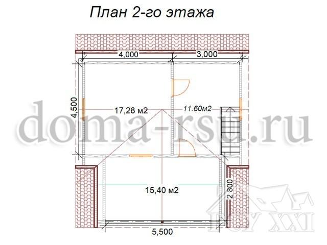 Проект каркасного дома КД073