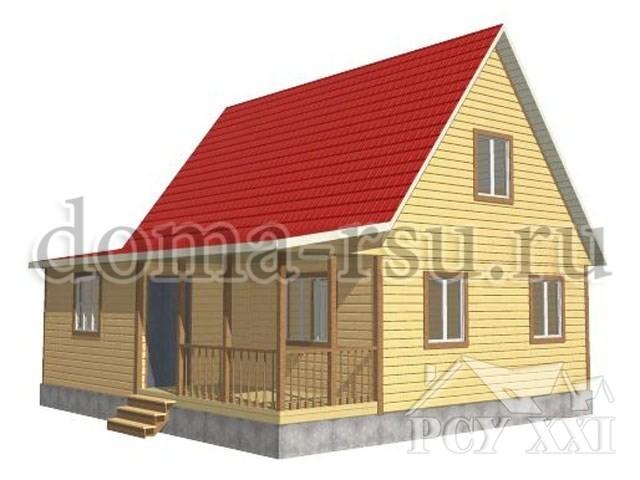 Проект дома из бруса БД077