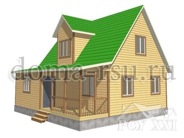 Проект дома из бруса БД078