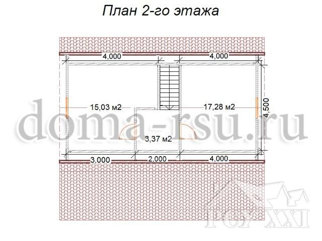 Проект дома из бруса БД080