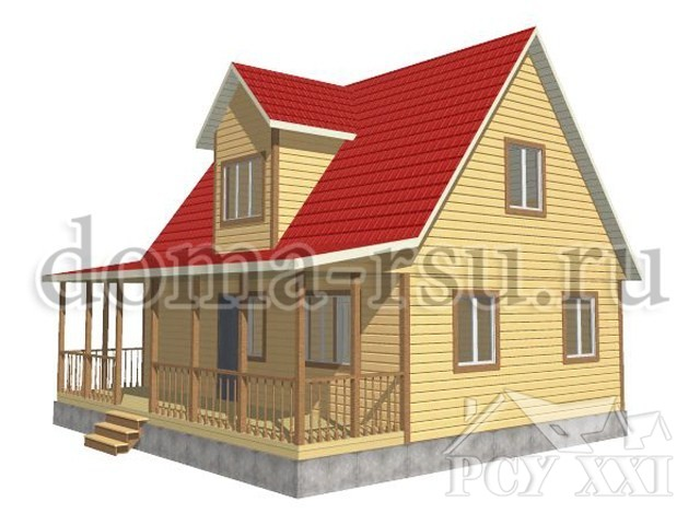 Проект каркасного дома КД081