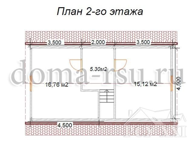 Проект каркасного дома КД082