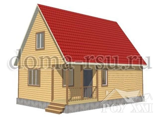 Проект дома из бруса БД083