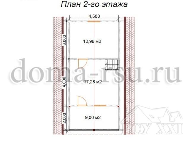 Проект каркасного дома КД084