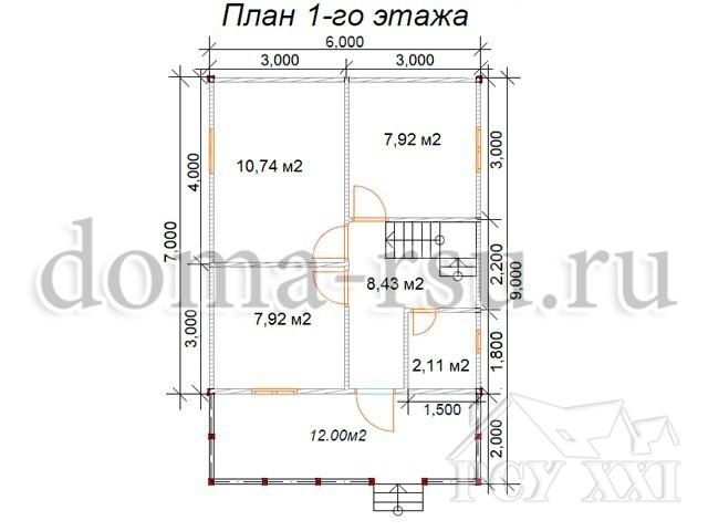 Проект каркасного дома КД085