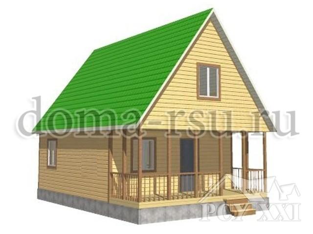 Проект дома из бруса БД086