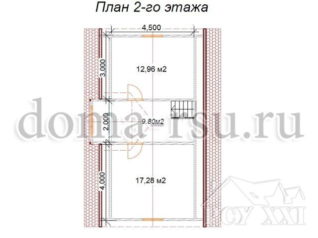 Проект каркасного дома КД087
