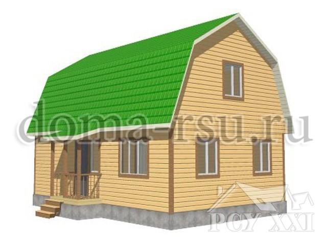 Проект дома из бруса БД089