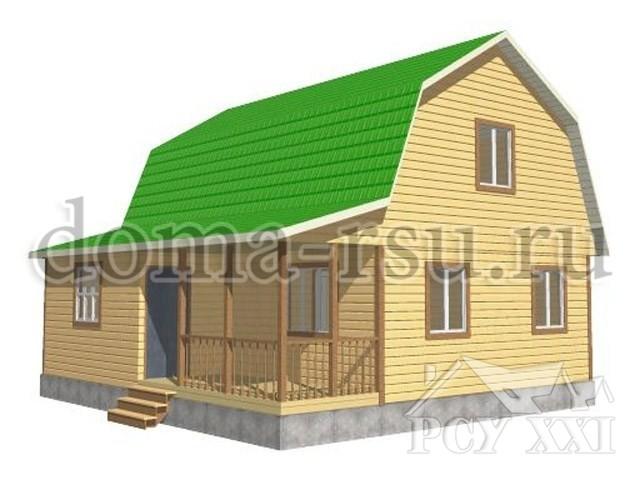 Проект каркасного дома КД090