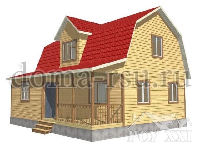 Проект дома из бруса БД091