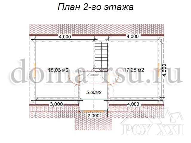 Проект каркасного дома КД092