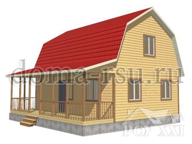 Проект дома из бруса БД093