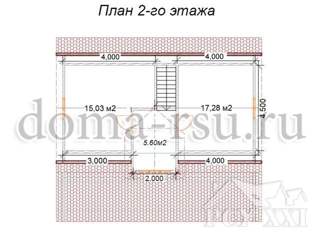 Проект каркасного дома КД094
