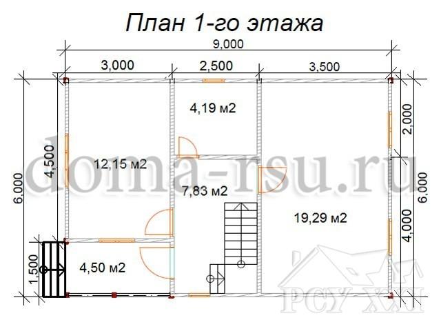 Проект каркасного дома КД095