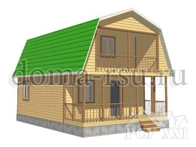 Проект дома из бруса БД097