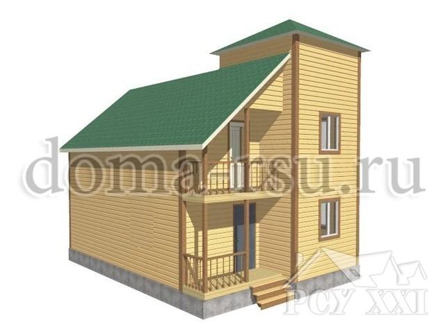 Проект дома из бруса БД101