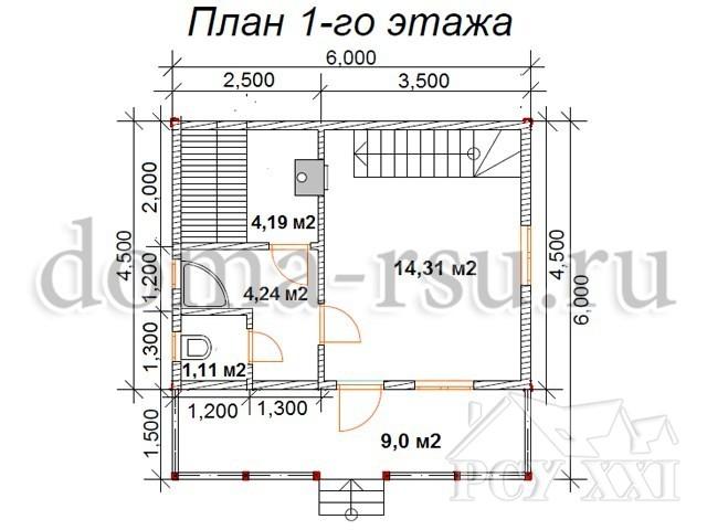 Проект бани ПБ118