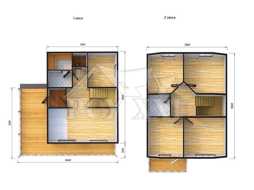 Индивидуальный проект дома «Кейкино-110»